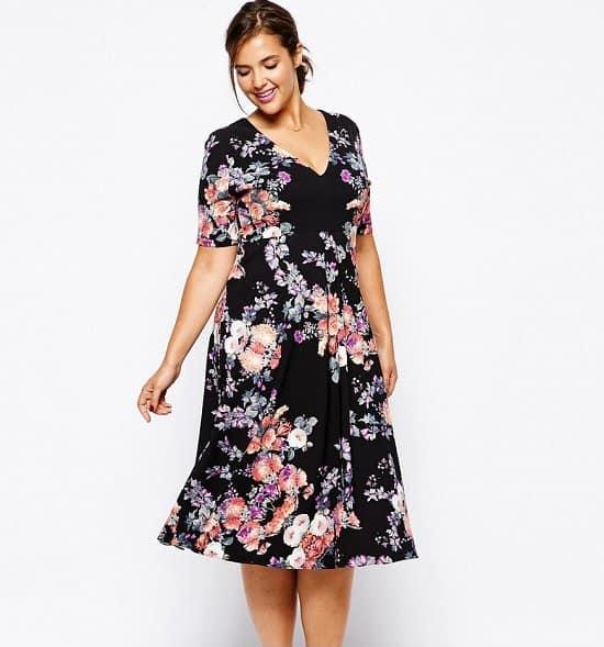 Vestidos tallas grandes 2019- decoracion en estilo floral